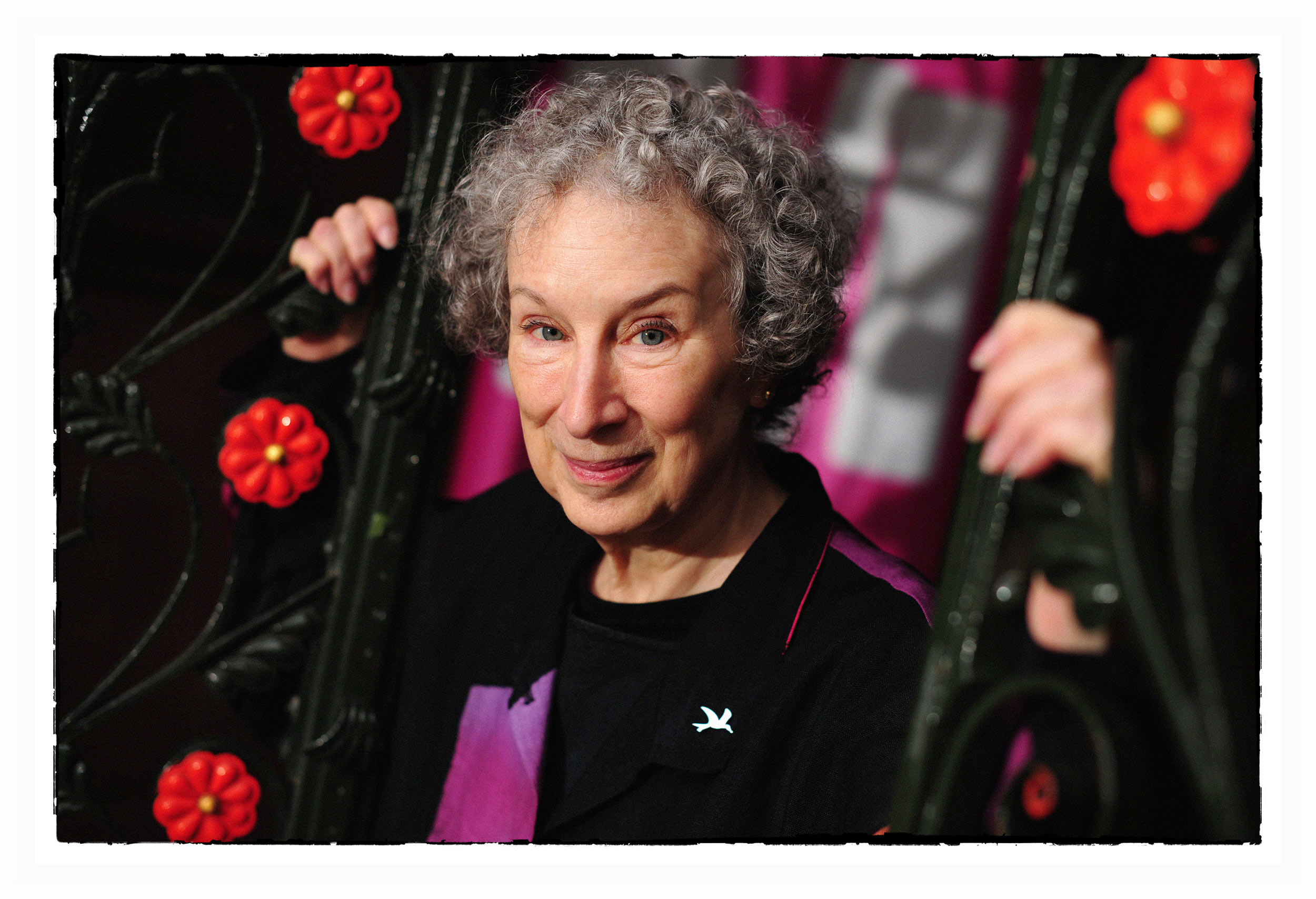 Photograph of Canadian writer of Handmaids Tale Margaret Atwood at Manchester Literary Festival photography by Manchester Photographer
