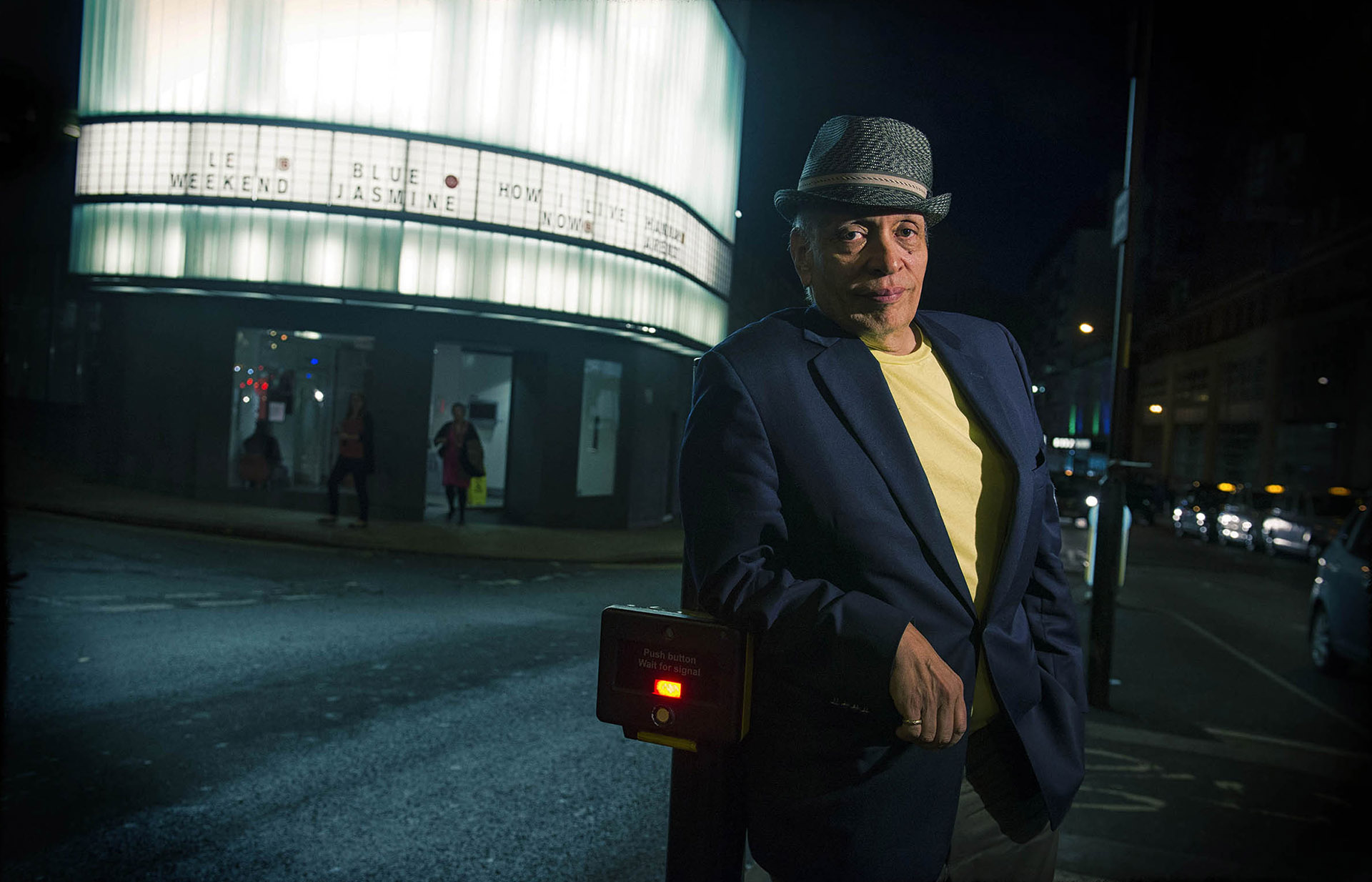 Walter Mosley outside Cornerhouse Manchester photographer Jon Parker Lee