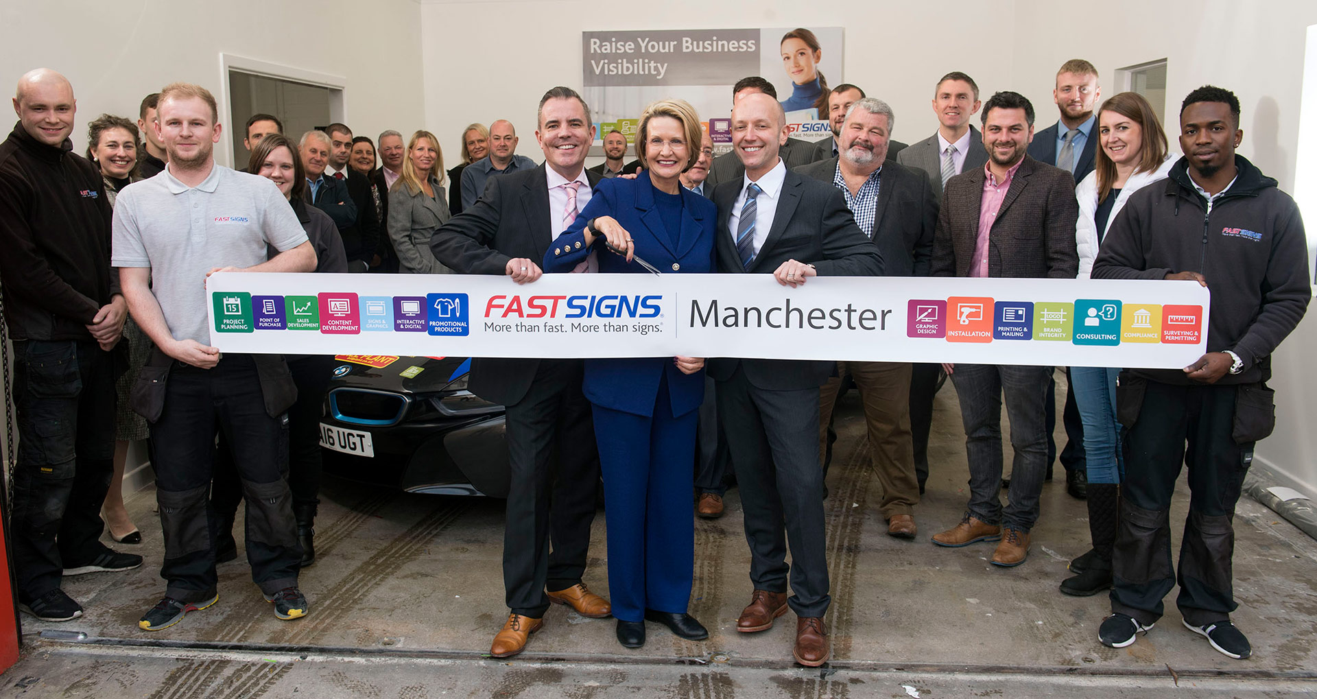CEO launches new franchise business in Salford Fast Signs Photography by Manchester Photographer