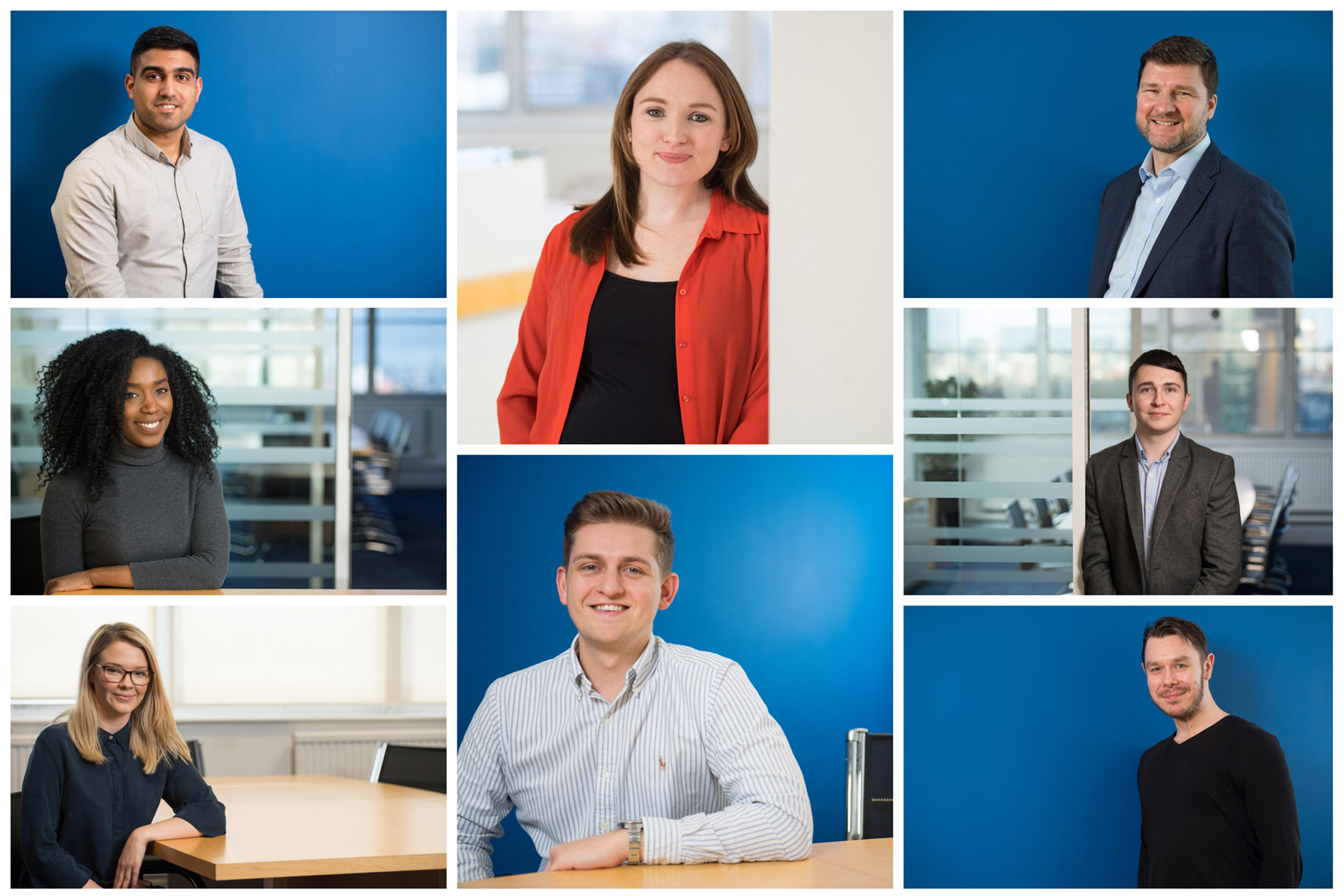 Freelance team portraits for business in Manchester