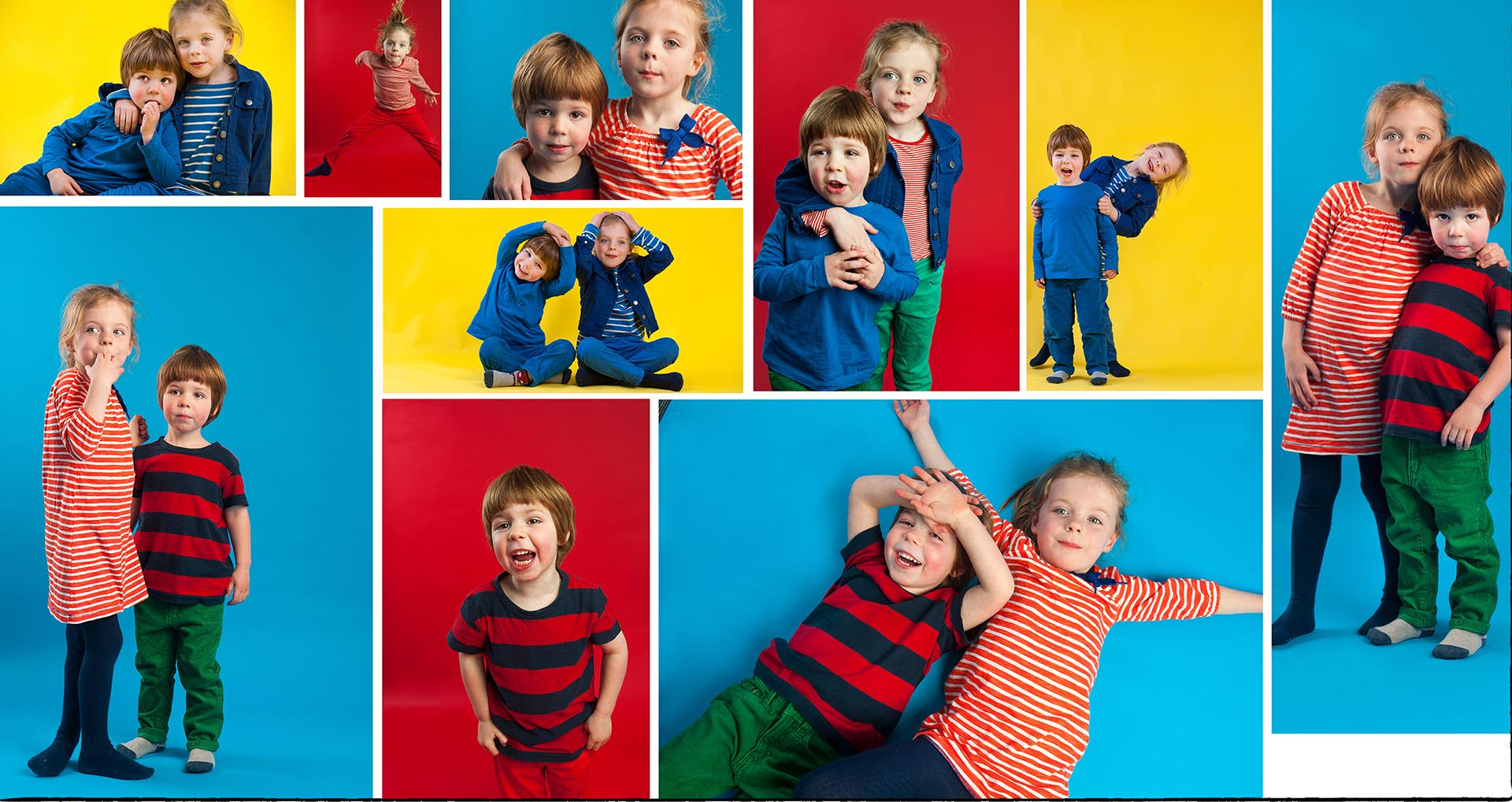 Photograph of kids photoshoot coloured backdrops family photographer Manchester inside or outside natural fun family photographer Creative Family Photography- Manchester Photographer