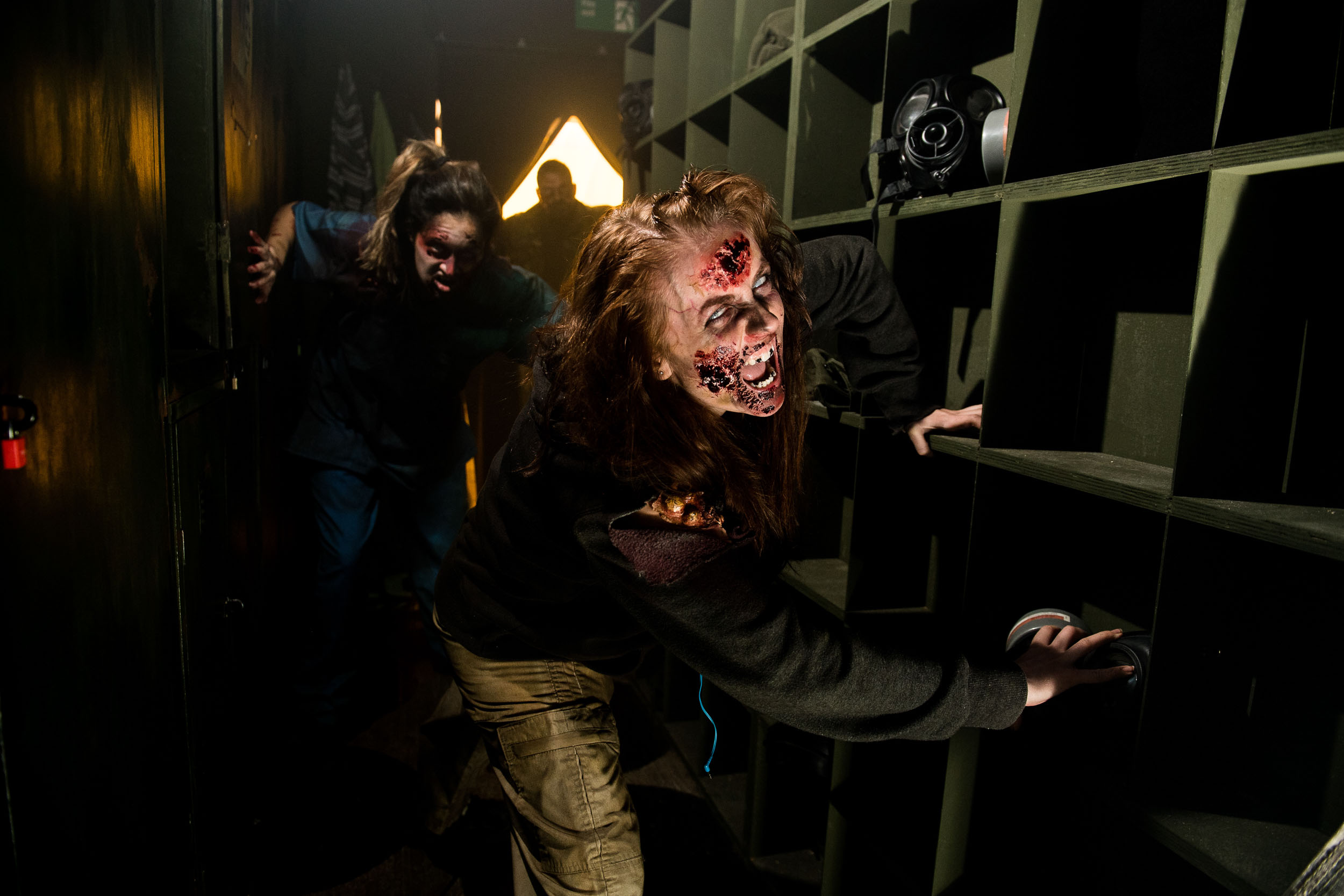 Photographs of Scarefest at Alton Towers.