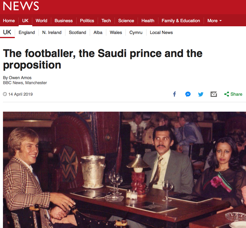 BBC News Portrait photography the footballer, the saudi prince and the proposition