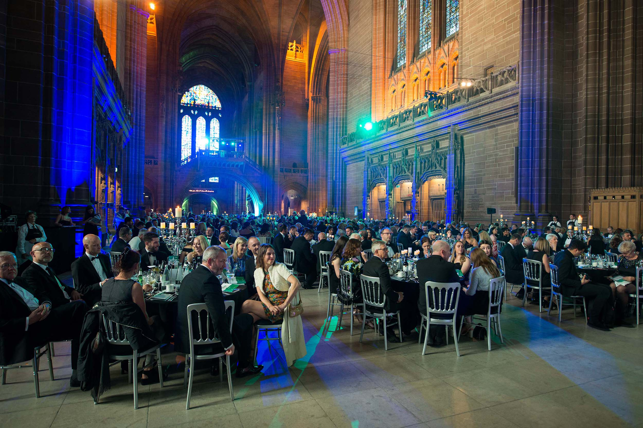 Awards event Photographer Manchester at Liverpool Tourism awards Liverpool Cathedral 2019 Spark drummers