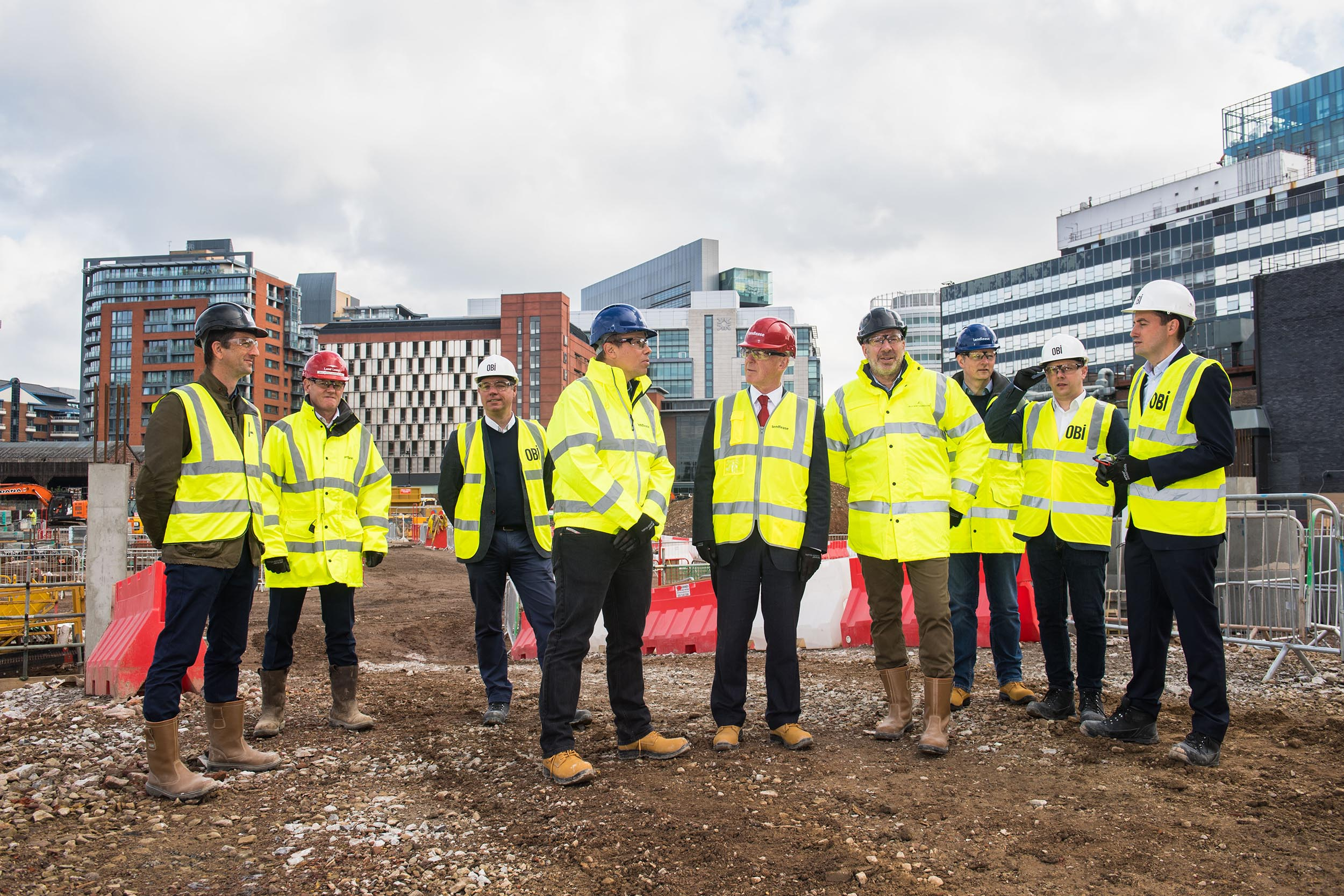 Ground Breaking Ceremony at old Granada TV Site in Manchester for booking.com St John's Quarter in Manchester photographer