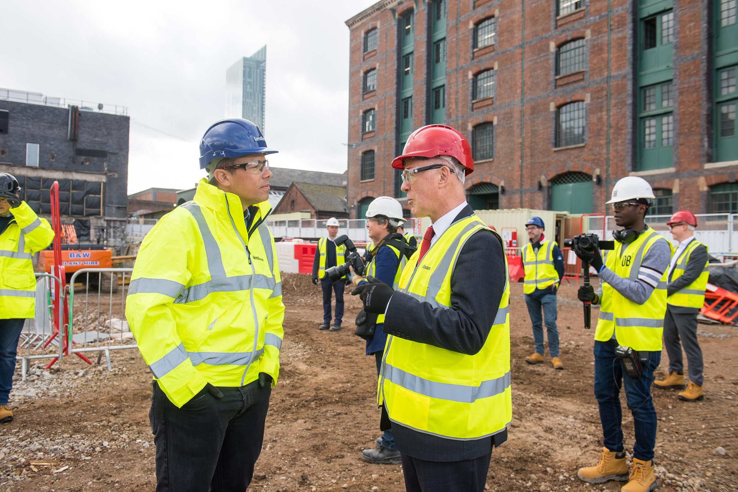 Ground Breaking Ceremony at old Granada TV Site in Manchester for booking.com St John's Quarter in Manchester