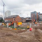 Ground Breaking Ceremony at old Granada TV Site in Manchester for booking.com St John's Quarter in Manchester photographer lendlease