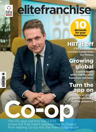 Coop Martin Rogers business front cover EliteFranchise Magazine Manchester Photography
