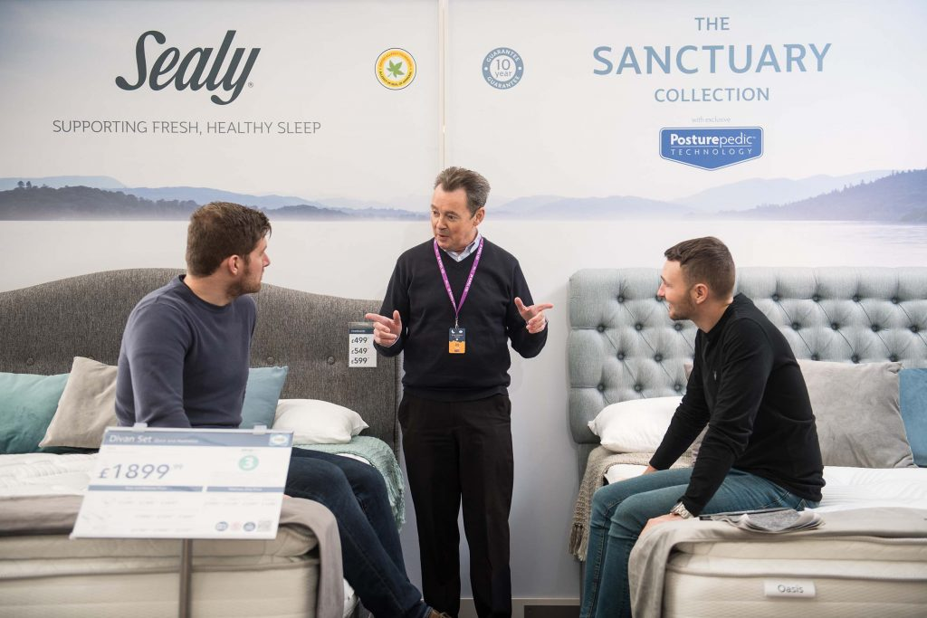 Sanctuary Collection and Sealy beds at Harveys Furniture